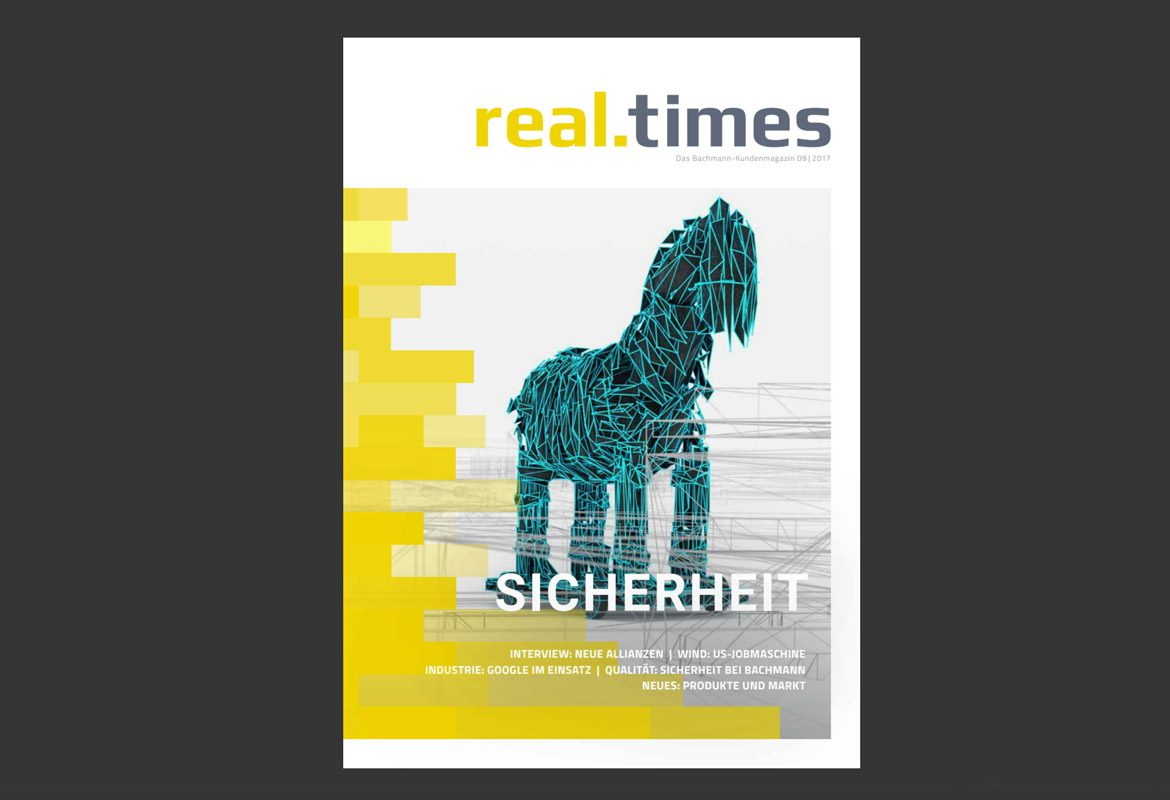 industrial newsgames kundenmagazin bachmann real times bunt